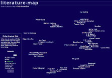 Screenshot of Gnod literature map